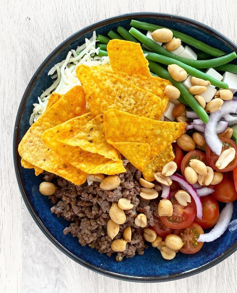 Mexi bowl med bønner og feta